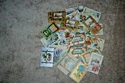 Lot Of 28 Vintage Christmas And New Years Postcards Embossed 1908-1912