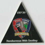 Task Force Thunder Afghanistan Col Csm 101st Oef Xv Challenge Coin 2.5dia Gb3