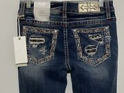 Miss Me Womenand039s Mid Rise Slim Fit Boot Cut Blue Jeans Size 26 X 34 Nwt