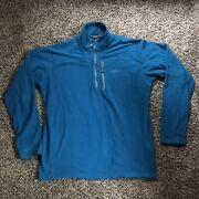 Rab Quest Pull-on Quarter Zip Fleece Mens Size Large Blue turquoise