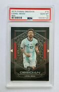 2019-20 Panini Obsidian Tmall Lionel Messi Electric Etch Red Card 9/22 Psa 10