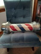 Vintage Fully Restored Barber Pole- Works Perfectly William Marvy