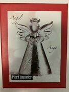 Pier 1 Imports Angel Crystal And Silver Christmas Ornament