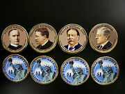 2013 Complete Set Of Presidential Dollars Colorized On Both Sides