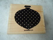 """Stampin Up Polk-a-dot Ornament Rubber Stamp Size 2"""" X 2 ½"""" Crafts Embossing"""