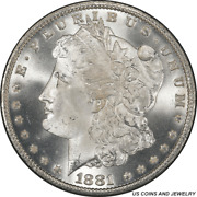 1881-cc Morgan Silver Dollar Pcgs Ms67 Cac - White And A Super Nice Coin