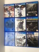9 Ps4 Game Lot, Killzone Dark Souls Ii And Iii,assassins Creed, The Order + More