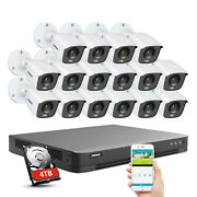 Annke 4k 16ch Dvr 8mp Video Security Camera System Full Color Night Vision Ip67