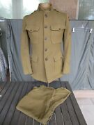 Wwi 27th Infantry Division 105th Regiment Uniform Pants And Jacket With Patches