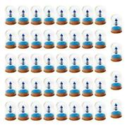 50x Home Glass Dome Display Jar Cover Shield Shade With Wooden Cork Tabletop