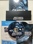 Metroid Prime Trilogy Collectors Edition Wii Disc Near Mint😍 Complete