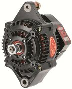 Powermaster 8138 Denso Racing Alternator With One Wire In Black - 95 Amp 12 V