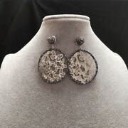 New China Paper-cut Hollow Out Butterfly Round Earrings Charm Fashion Jewellery