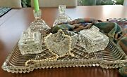 Vintage Dressing Table Set, Art Deco 8 Pieces,vanity Table Set, From Uk