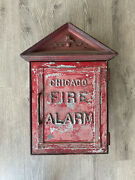 Vintage Chicago Police Fire Department Alarm Station Call Box Gamewell Cfd Cpd