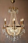 6 Arm French Empire Vintage Crystal Chandelier Antique Lighting Home Lights Lamp