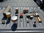 Rare Vintage Ho Scale Structures Water Towers Bridge Buildings And Other