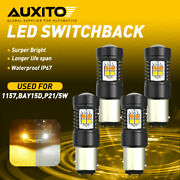 Auxito 1157 Led Switchback Dual Color Turn Signal Light Bulb Drl 6000k/3000k 4pc