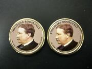 2013 Colorized Theodore Roosevelt Presidential Dollars P And D Pairs