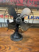 """Antique Westinghouse Electric Fan 8"""" 517520 Oscillating Fan Steel Blades And Cage"""