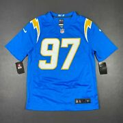 100 Authentic Chargers Joey Bosa Nike Powder Blue Game Jersey Size M 40 Mens
