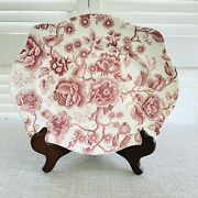 Johnson Brothers England Vintage 12 English Chippendale Red Oval Platter Tray
