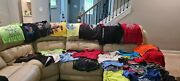 Nike Reebok Under Armour Boys Lot Of 33 Shoes Long Sleeve Sweater Shorts Size 10