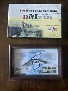 Framed Dmz Piece Of The Wire Fence From Korea War