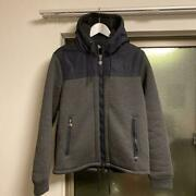 Moncler Down Jacket Size L Fleece Hoodie Used In Japan No.1266