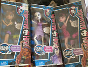 Monster High 3 Doll Lot Spectra Draculaura Clawdeen Dead Tired Nrfb