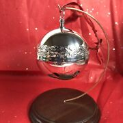 1971 Wallace Silver Plated Sleigh Bell Christmas Ornament 1st Edition Read