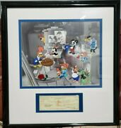 Walter Lantz We Miss You Boss Serigraph Cel Woody Woodpecker 26x24 Signed Check
