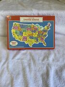 Unopened 1988 Milton Bradley Map, The United States And World 2-sided Puzzle