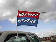 Free Shipping Car Dealer Lot 16 Window Clip On Flags- Buy Here Pay Here