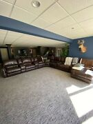 Dartmouth 7-piece Reclining Sectional With Chaise And 5 Reclining Seats