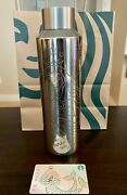 New 2021 Limited Edition 50 Years Starbucks Stainless Steel Water Bottle And Card
