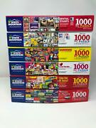 Lot Of Six 6 White Mountain 1000 Piece Puzzles - Complete