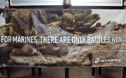 United States Marine Corps Vinyl Banner Over 6 Foot Wide