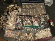 Huge Lot Of Buttons New And Vintage