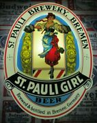 New Vtg 1985 St Pauli Girl Woman Lady Chick In Motion Beer Led Bar Light Sign A+