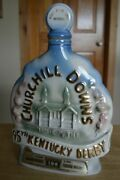 Jim Beam Vintage 1969 95th Kentucky Derby Horse Race Whiskey Decanter Empty
