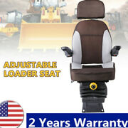 Suspension Tractor Seats Forklift Seat Adjustable Back Replacement Armrest Seat