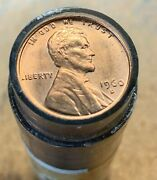 Roll 50 1960d Small Date Error Uncirculated Coins Cracked Skull Filled Die Chips