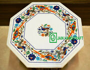 2and039x2and039 Antique Marble Table Top Coffee Center Inlay Malachite Handmade Lapis W120