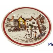 Vintage Vernon Kilns Calif Plate Bits Of The Old England No. 6 Horse And Town