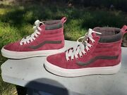 Off The Wall Burgandy Suede Shoes High Top Womenand039s Size 6.5 Men 5 New