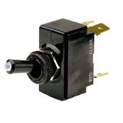 Cole Hersee M-54111-01-bp Lighted Tip Toggle Switch Spst On-off 4 Blade