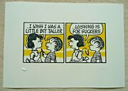 Mark Drew Chronic Signed And Numbered Ed150 Print And039i Wish ..and039 Charlie Brown