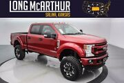2021 Ford F-250 Black Widow Lifted Super Duty Diesel Crew 4x4 6 Inch Lift Offroad Tires Custom Leather Power Running Boards