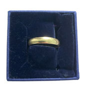 14k Solid Yellow Gold Band Ring Wedding 4mm Size 9 2.8 Grams